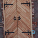 Wooden outer doors