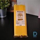 Dzelteni dabai draudzīgi dzērienu salmiņi 24 cm / 8 mm / 25 gab