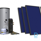 HEWALEX flat solar collector sets for 4-6 users