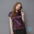 Natural silk top Purple