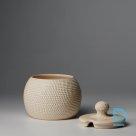 Ceramic sugar or jam bowl – white